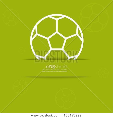 Vector icon of a soccer ball. football. For web and mobile applications. layout for booklet, flyer, cover, preview, announcement, report.