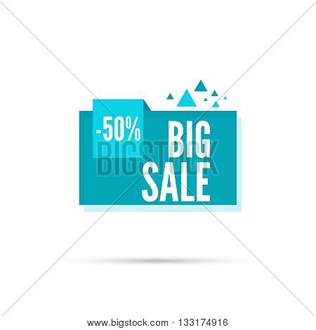 Sale banner. Vector tag. special offer, discount, price. 50 percentage.  Big sale