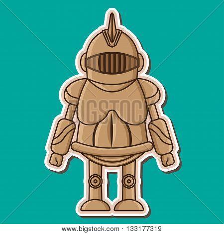 Cute Knight wooden dummy mascot Vecyor Design