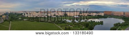 Panorama of residential district in Moscow, Russia