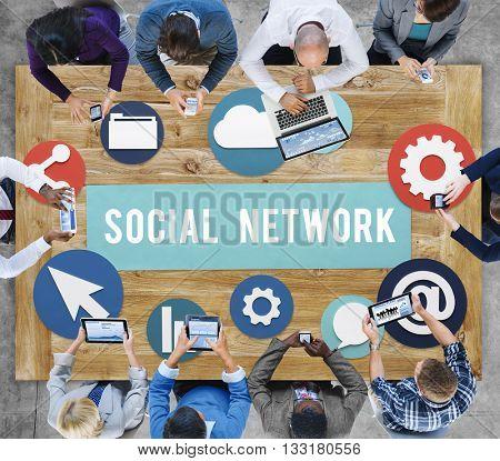 Social Media Network Internet Connection Concept