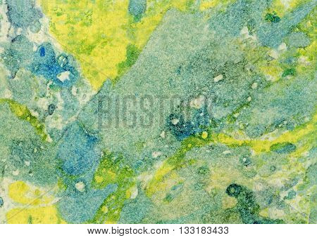 Abstract Marble Colorful Texture Art Background. Green and yellow color. Colorful marble effect of paint and paper. Paint texture background. Splatter Paint Splash background textures.