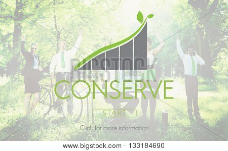Conserve Green Business Environment Ecology Concept