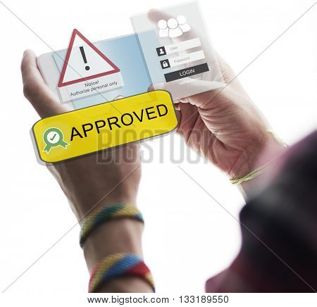 Access Allowed Entrust Password Secured Concept poster