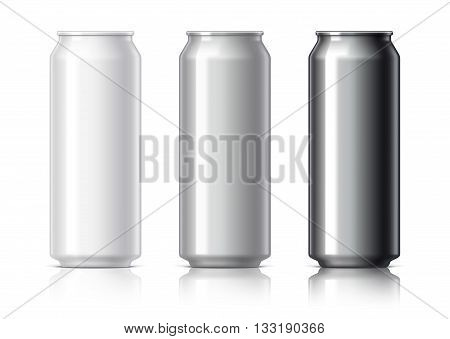 White Black And Gray Aluminum Cans