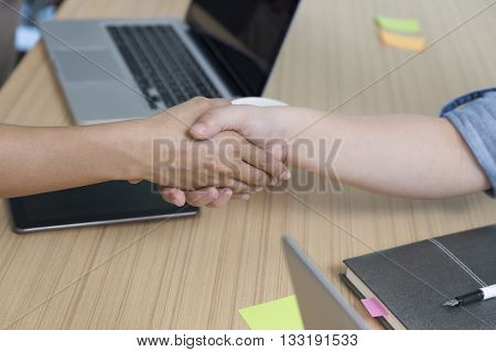 Businessman Handshaking For Use As Cooperation, Acquisition Concept