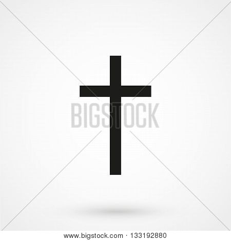 Religion Cross Icon In A Simple Style
