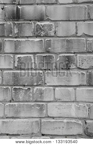 black and white background burnt brick wall