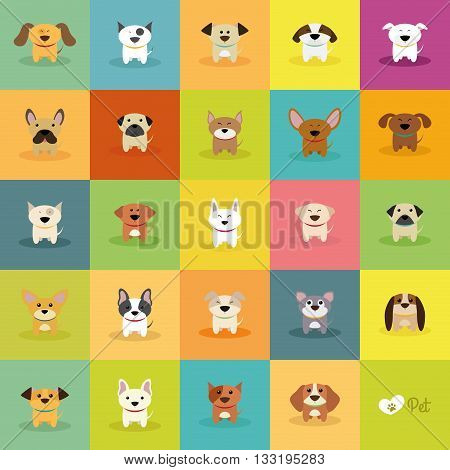 abstract cute dogs on a special background