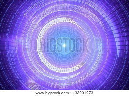 Time warp traveling in space. 3D rendering