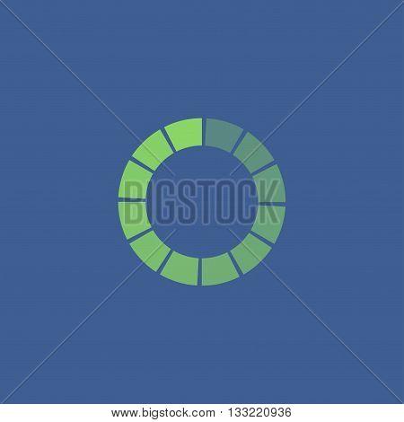 Vector circular loading icon. Flat design style eps 10