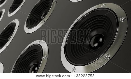 3d modern sound speakers stereo system Hi-Fi background