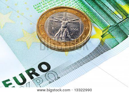 100 Euros y 1 Euro