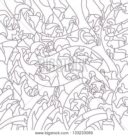 abstract drawing, pattern, ornament, arbitrary linear image