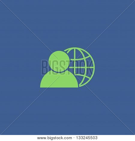 global business business man icon vector illustration. Flat design style
