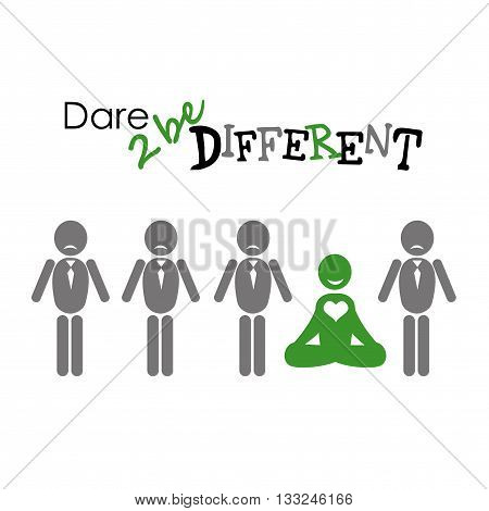 illustration of people icons be different vector illustration
