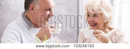 Cheerful Couple And Coffee