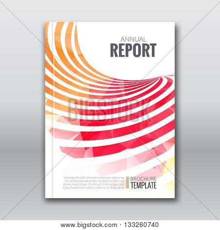 Cover Report Business Colorful Stripes Triangle Polygonal Geometric pattern Design Background, cover magazine, Brochure Book Cover Template, vector illustration.