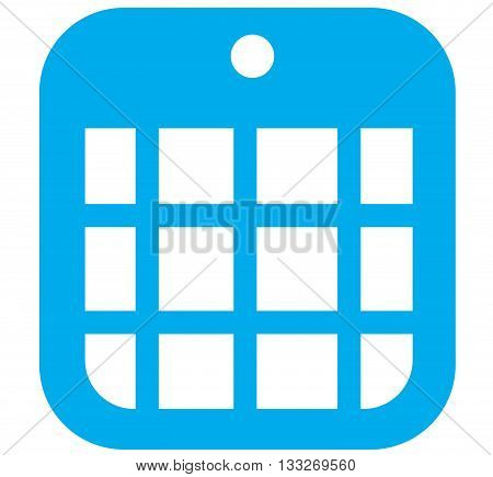 Blue icon vector illustrations of a calendar