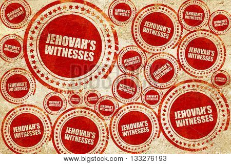 jehovah's witnesses, red stamp on a grunge paper texture