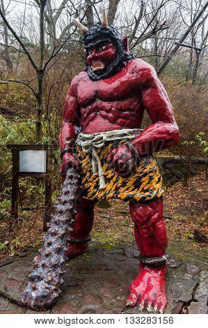Red Demon Or Giant In Noboribetsu