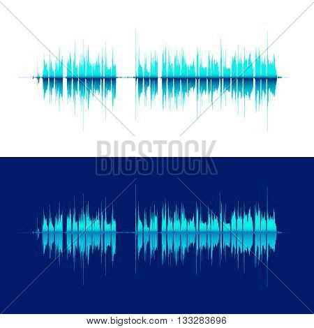 HQ Vector sound waves. Music waveform background. You can use in club, radio, pub, DJ show, party, concerts, recitals or the audio technology advertising background