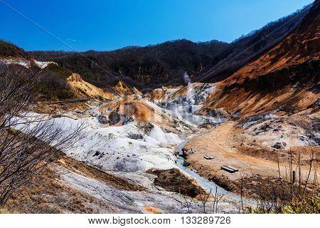 Jigokudani Or Hell Valley, Noboribetsu