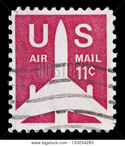 United States Used Postage Stamp Showing Aircraft Silhouette