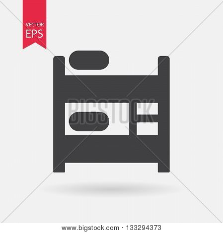 Hostel Icon Vector. Flat design. Hostel sign isolated on white background
