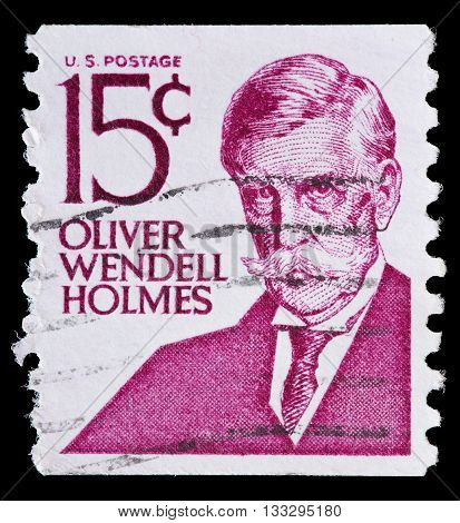 United States Used Postage Stamp Showing Oliver Wendell Holmes