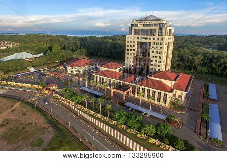 Labuan,Malaysia-June 7,2016:UMS Labuan International Campus (UMSLIC),located approximately 18KM from Labuan city center is the first branch campus for University Malaysia Sabah & known as beach campus