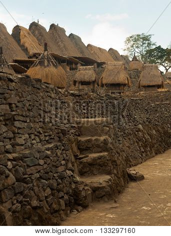 traditional village Bena village on Flores Island Indonesia Asia