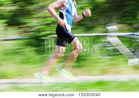 Runner At A Foot Race