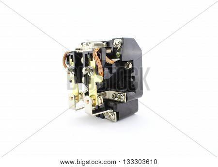 Industrial power contactor, electronic circuit breaker, relay