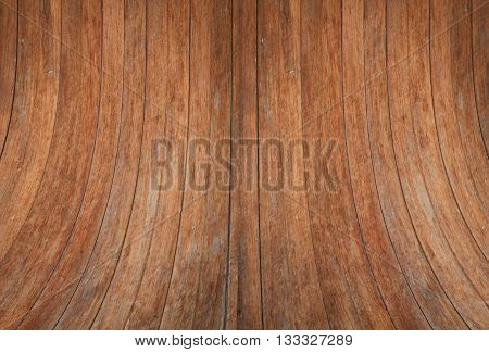 Wood wall curve texture background, stock photo