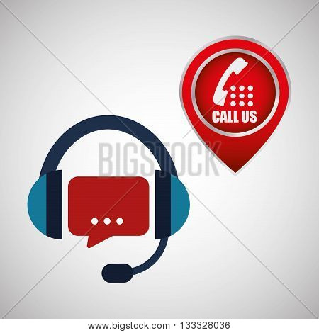 Call center concept with icon design, vector illustration 10 eps graphic.