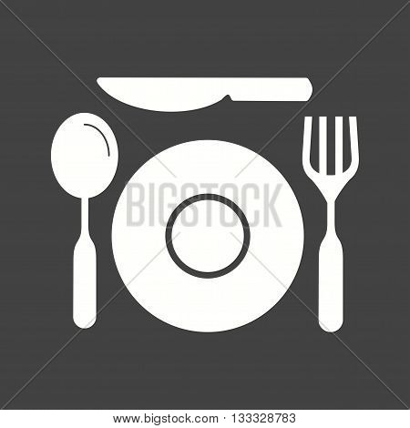 Course, two, dinner icon vector image. Can also be used for kitchen. Suitable for use on web apps, mobile apps and print media.
