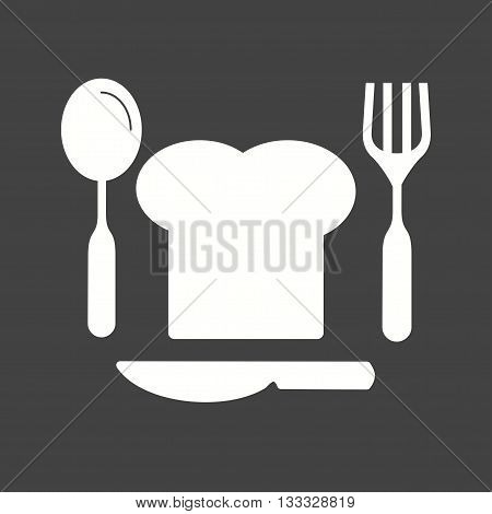 Chef, hat, cutlery icon vector image. Can also be used for kitchen. Suitable for use on web apps, mobile apps and print media.