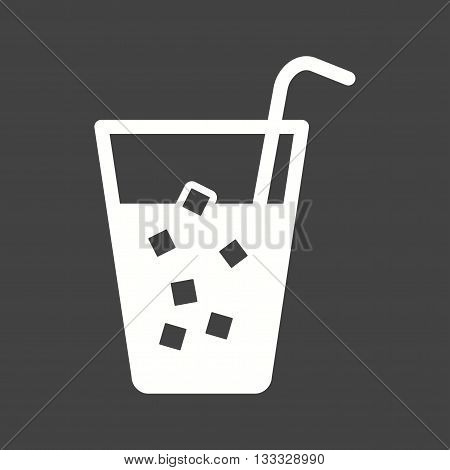 Ice, drink, soda icon vector image. Can also be used for kitchen. Suitable for use on web apps, mobile apps and print media.