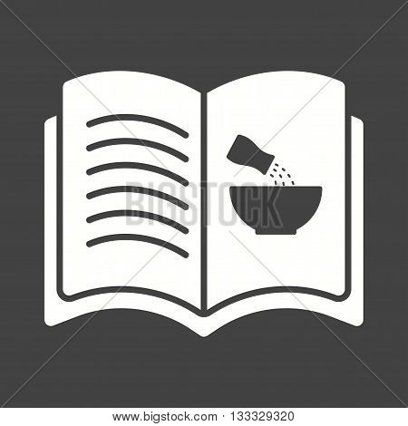 Kitchen, recipes, book icon vector image. Can also be used for kitchen. Suitable for use on web apps, mobile apps and print media.