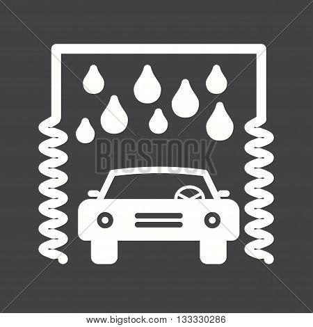 Wheel, wash, car icon vector image. Can also be used for car servicing. Suitable for use on web apps, mobile apps and print media.