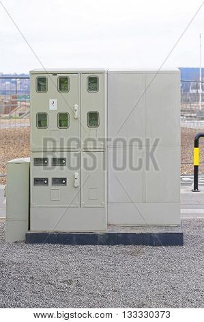 Electricity Meters in Weather Resistant Outdoor Cabinet