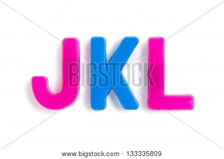 consonant letters isolated on a white background