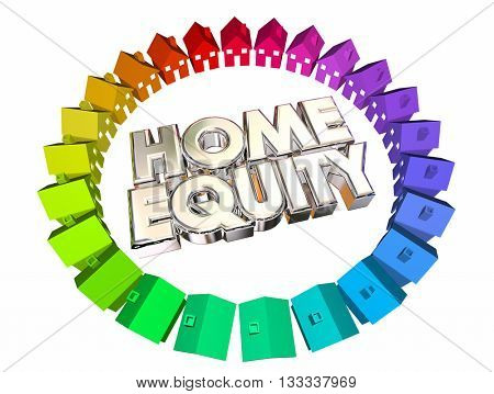 Home Equity Mortgage Value Asset Balance 3d Illustration