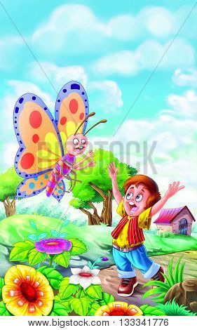 Butterfly Rhyme for Nursery kids having fun with Butterfly