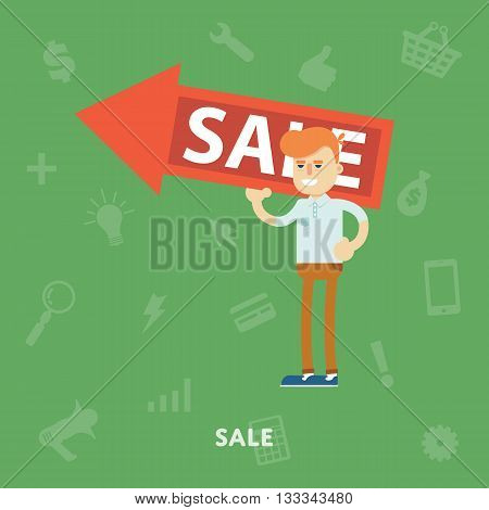 Shopping banner concept. Clearance sale. Sale time vector illustration. Shopping time. Overstock lots. Online shopping. Shopping symbol.