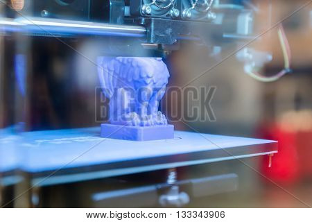 Detail Of 3D Printer At Technology Hub In Milan, Italy
