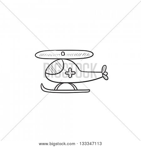 Air ambulance vector sketch icon isolated on background. Hand drawn Air ambulance icon. Air ambulance sketch icon for infographic, website or app.