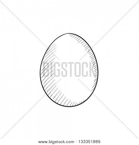 Egg vector sketch icon isolated on background. Hand drawn Egg icon. Egg sketch icon for infographic, website or app.