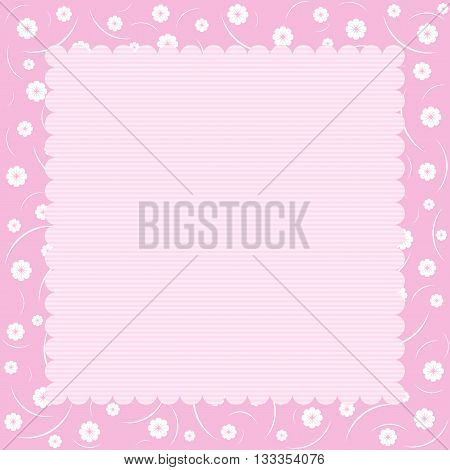 Floral pattern. Retro background in pastel tones.
